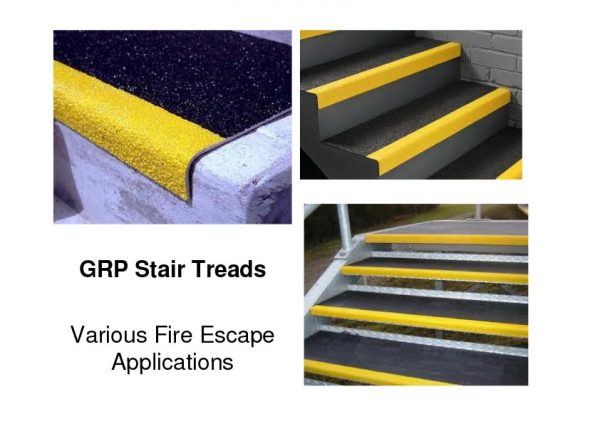GRP Non-Slip Stair Treads